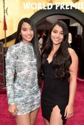 HOLLYWOOD, CALIFORNIA - MARCH 09: (L-R) Myka Montoya and Mya Montoya attend the World Premiere of Disney's 'MULAN' at the Dolby Theatre on March 09, 2020 in Hollywood, California. (Photo by Alberto E. Rodriguez/Getty Images for Disney)