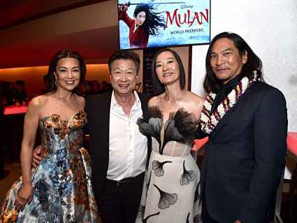 HOLLYWOOD, CALIFORNIA - MARCH 09: Ming-Na Wen, Tzi Ma, Rosalind Chao and Jason Scott Lee attend the World Premiere of Disney's 'MULAN' at the Dolby Theatre on March 09, 2020 in Hollywood, California. (Photo by Alberto E. Rodriguez/Getty Images for Disney)