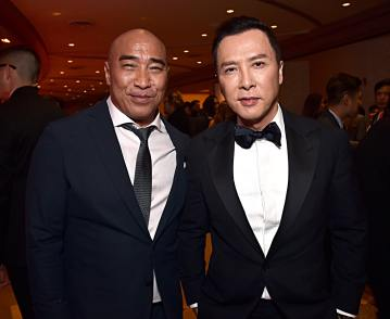 HOLLYWOOD, CALIFORNIA - MARCH 09: Ron Yuan and Donnie Yen attend the World Premiere of Disney's 'MULAN' at the Dolby Theatre on March 09, 2020 in Hollywood, California. (Photo by Alberto E. Rodriguez/Getty Images for Disney)