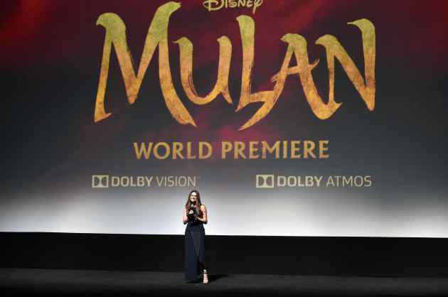 HOLLYWOOD, CALIFORNIA - MARCH 09: Director Niki Caro speaks onstage during the World Premiere of Disney's 'MULAN' at the Dolby Theatre on March 09, 2020 in Hollywood, California. (Photo by Alberto E. Rodriguez/Getty Images for Disney)