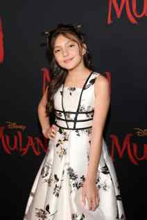 HOLLYWOOD, CALIFORNIA - MARCH 09: Elle Paris Legaspi attends the World Premiere of Disney's 'MULAN' at the Dolby Theatre on March 09, 2020 in Hollywood, California. (Photo by Jesse Grant/Getty Images for Disney)