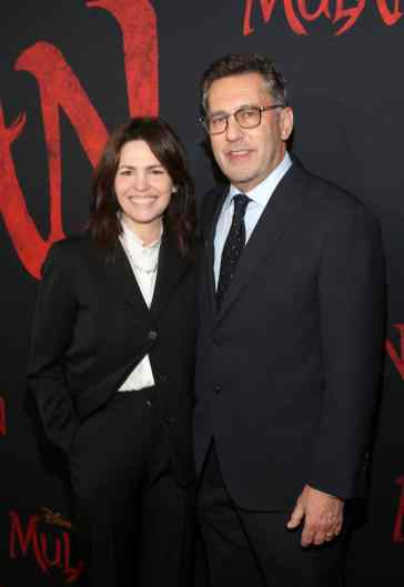 HOLLYWOOD, CALIFORNIA - MARCH 09: (L-R) Screenwriters Amanda Silver and Rick Jaffa attend the World Premiere of Disney's 'MULAN' at the Dolby Theatre on March 09, 2020 in Hollywood, California. (Photo by Jesse Grant/Getty Images for Disney)