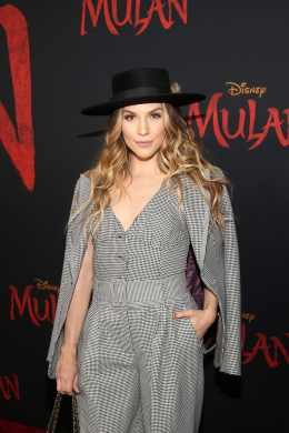 HOLLYWOOD, CALIFORNIA - MARCH 09: Allison Holker attends the World Premiere of Disney's 'MULAN' at the Dolby Theatre on March 09, 2020 in Hollywood, California. (Photo by Jesse Grant/Getty Images for Disney)