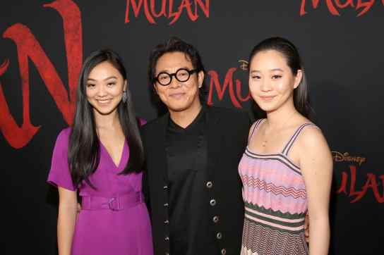 HOLLYWOOD, CALIFORNIA - MARCH 09: (L-R) Jane Li, Jet Li, and Jada Li attend the World Premiere of Disney's 'MULAN' at the Dolby Theatre on March 09, 2020 in Hollywood, California. (Photo by Jesse Grant/Getty Images for Disney)