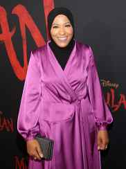 HOLLYWOOD, CALIFORNIA - MARCH 09: Ibtihaj Muhammad attends the World Premiere of Disney's 'MULAN' at the Dolby Theatre on March 09, 2020 in Hollywood, California. (Photo by Jesse Grant/Getty Images for Disney)