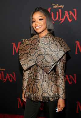 HOLLYWOOD, CALIFORNIA - MARCH 09: Marsai Martin attends the World Premiere of Disney's 'MULAN' at the Dolby Theatre on March 09, 2020 in Hollywood, California. (Photo by Jesse Grant/Getty Images for Disney)