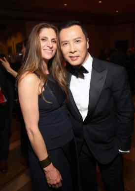 HOLLYWOOD, CALIFORNIA - MARCH 09: Director Niki Caro and Donnie Yen attend the World Premiere of Disney's 'MULAN' at the Dolby Theatre on March 09, 2020 in Hollywood, California. (Photo by Jesse Grant/Getty Images for Disney)