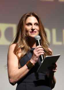HOLLYWOOD, CALIFORNIA - MARCH 09: Director Niki Caro speaks onstage during the World Premiere of Disney's 'MULAN' at the Dolby Theatre on March 09, 2020 in Hollywood, California. (Photo by Jesse Grant/Getty Images for Disney)