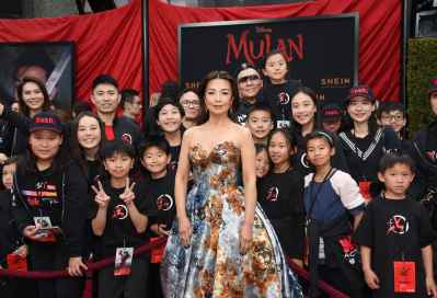 HOLLYWOOD, CALIFORNIA - MARCH 09: attends Disney's Mulan Movie Premiere Sponsored by SHEIN at Dolby Theatre on March 09, 2020 in Hollywood, California. (Photo by Presley Ann/Getty Images for SHEIN)