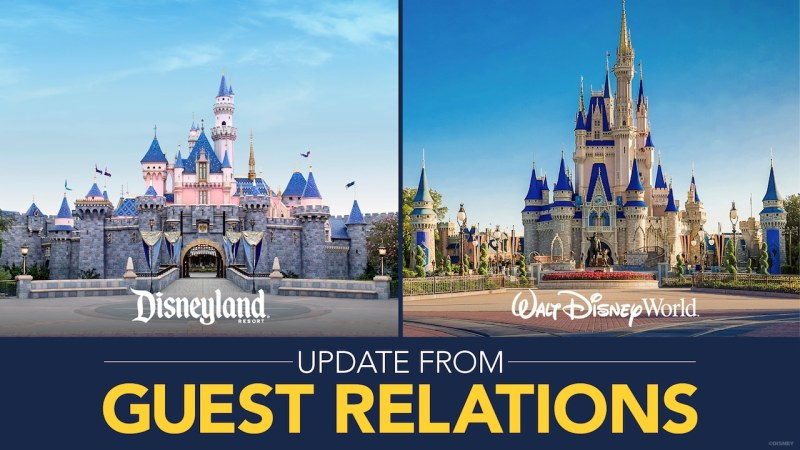 Update from Disney Guest Relations