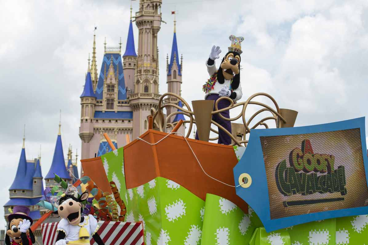 """Goofy will star in """"A Goofy Cavalcade!"""" when Magic Kingdom Park reopens July 11, 2020, at Walt Disney World Resort in Lake Buena Vista, Fla. With traditional parades on temporary hiatus to support physical distancing during the park's phased reopening, Disney characters will pop up in new and different ways throughout the day. (David Roark, photographer)"""