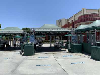 Security Tent at Downtown Disney District