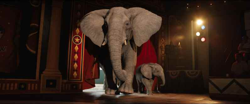 Stella (voiced by Angelina Jolie) and Ruby (voiced by Brooklynn Prince) in Disney's THE ONE AND ONLY IVAN, based on the award-winning book by Katherine Applegate and directed by Thea Sharrock. Photo courtesy of Disney. © 2020 Disney Enterprises, Inc. All Rights Reserved.