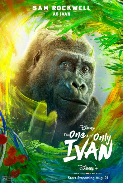 Ivan, voiced by Sam Rockwell, in Disney's THE ONE AND ONLY IVAN