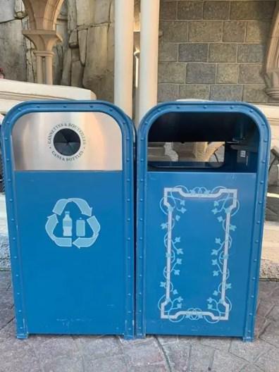 Disneyland Paris Garbage Cans During Phased Reopening