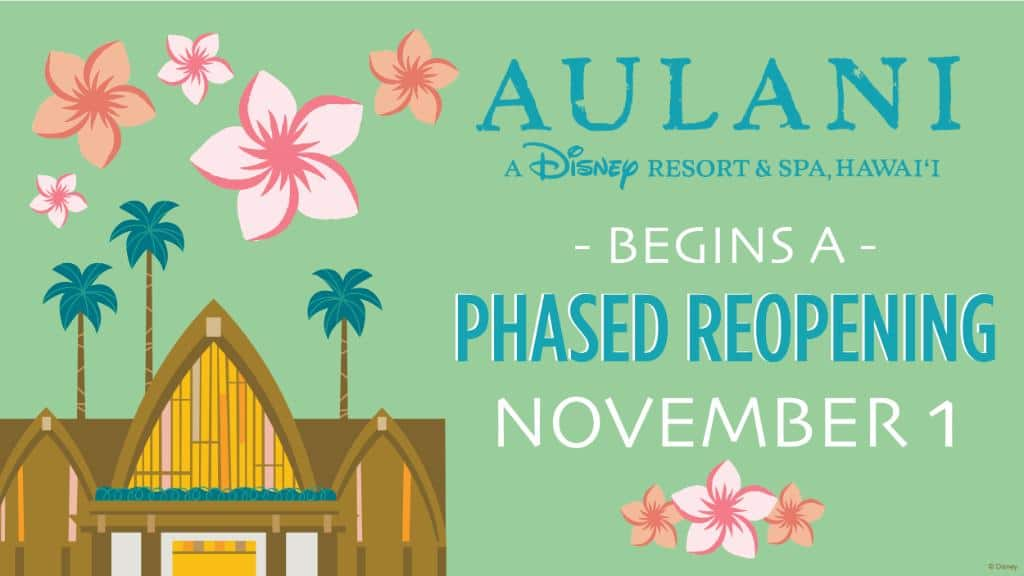 Aulani Resort & Spa in Hawaii to Begin Phased Reopening November 1
