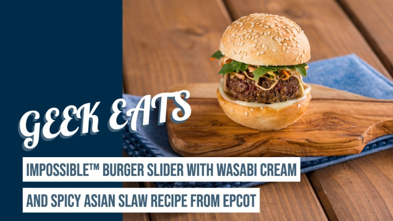 Impossible™ Burger Slider with Wasabi Cream and Spicy Asian Slaw