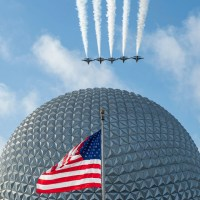 U.S. Air Force Thunderbirds Fly Over EPCOT at Walt Disney World Resort