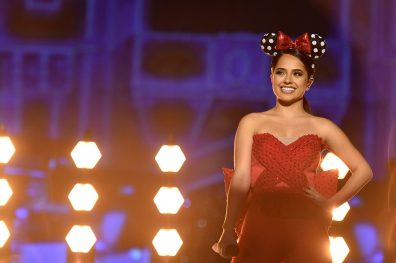 "Global superstar Becky G performs ""Santa Baby"" in 'The Wonderful World of Disney: Magical Holiday Celebration,' airing NOV. 26 (9:00-11:00 p.m. ET/PT) on ABC. This performance was previously recorded in 2016 in Magic Kingdom Park at Walt Disney World Resort in Lake Buena Vista, Fla. (Mark Ashman, photographer)"