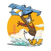 Mike Gabriel (United States); Donald Duck exhibition insignia for The Walt Disney Studios and World War II, 2019. Courtesy of Mike Gabriel; (c) Disney