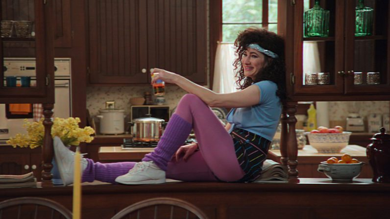 Kathryn Hahn as Agnes in Marvel Studios' WANDAVISION. Photo courtesy of Marvel Studios. ©Marvel Studios 2020. All Rights Reserved.