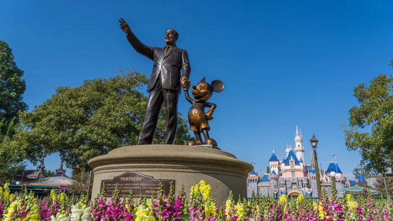 Partners Statue at Disneyland - November 18, 2020