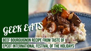Beef Bourguignon from Taste of EPCOT International Festival of the Holidays - GEEK EATS Disney Recipe