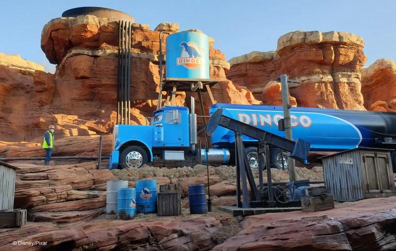 Dinoco truck on Cars ROAD TRIP