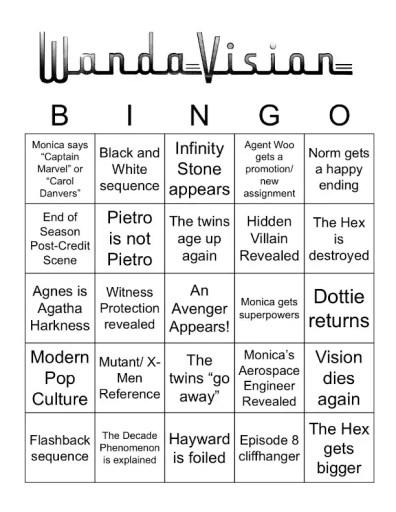 WandaVision Bingo