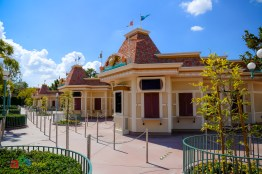 Empty ticket booths at the Disneyland Resort wait for the parks to reopen and guests to return