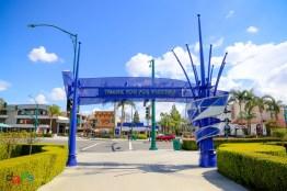 The backside of the Disneyland Resort sign at the Harbor Blvd entrance