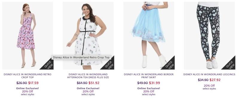 Her Universe Disney Alice in Wonderland Collection