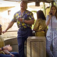 Dwayne Johnson and Emily Blunt Surprise Guests on Jungle Cruise at Disneyland as Secret Skippers