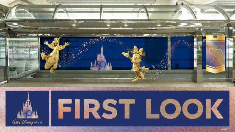 Orlando International Airport Walt Disney World 50th Anniversary Decoration