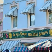 First Look: Sign Installed for Plaza Point Holiday Shoppe at Disneyland