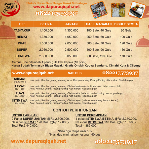 Referensi Akikah Bandung - Dapur Aqiqah