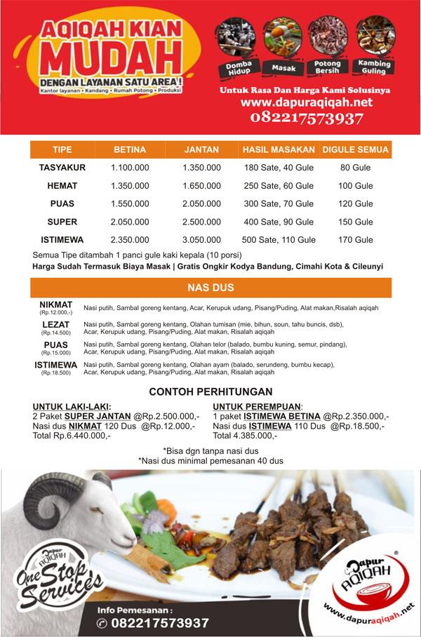 Aqiqah Murah Cileunyi Bandung - Dapur Aqiqah