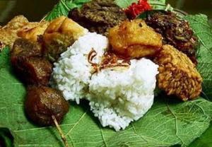 Cara membuat Nasi Jamblang, Nasi Lengko & Nasi Urap