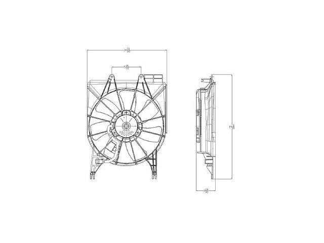 Radiator Fan Assembly X864MH for Acura RDX 2007 2008 2009