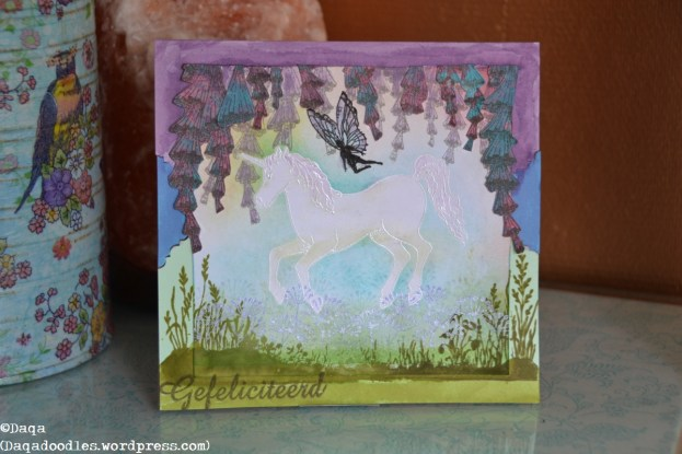 This one was for one of my nieces. I like the scenerey a lot. All stamps from Chocolate Baroque.