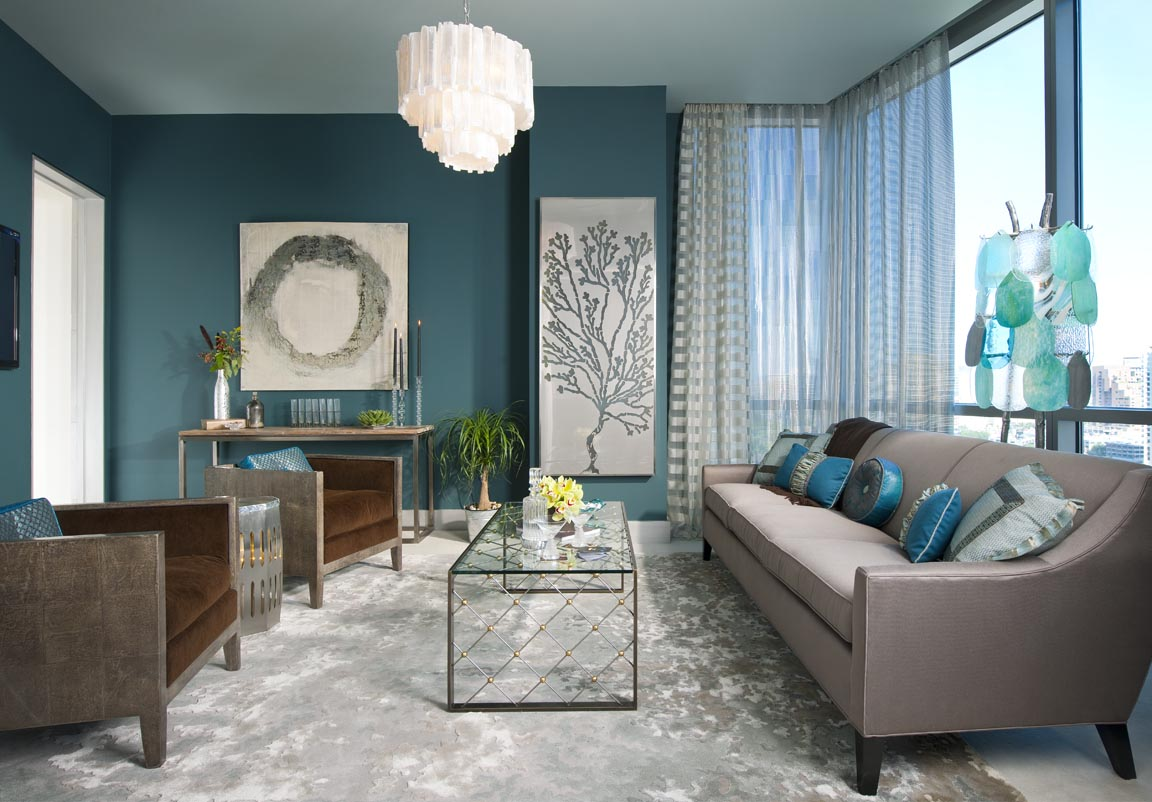 Awesome Decoration Salon Bleu Turquoise Pictures - House Design ...