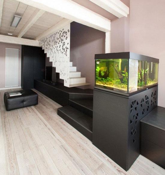 aquariumintegrersalonescalier  Dar Dco Dcoration intrieure maison Tunisie