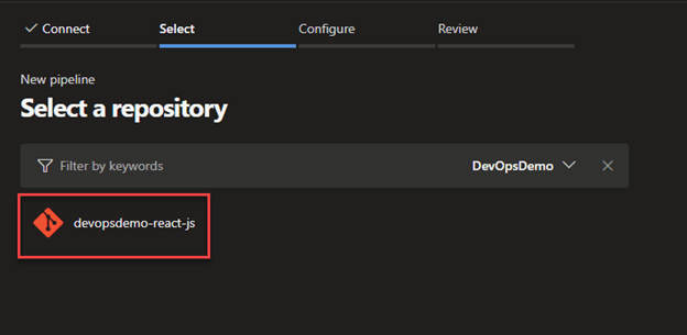 Configure a build pipeline for ReactJS in Azure DevOps