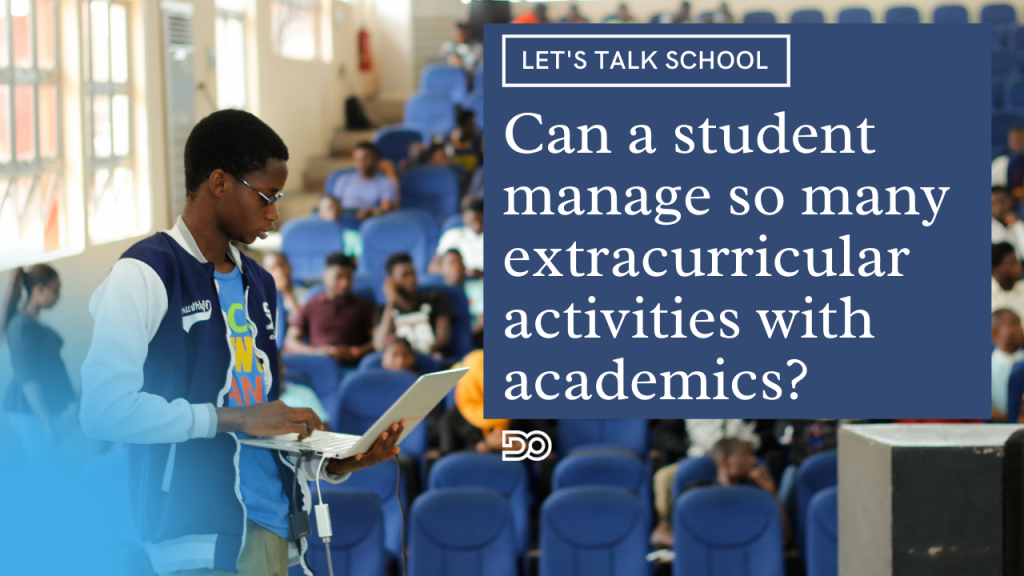 Can a student manage so many extracurricular activities with academics and if yes, what next?