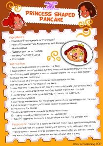 J&R Princess Pancake Recipe Card