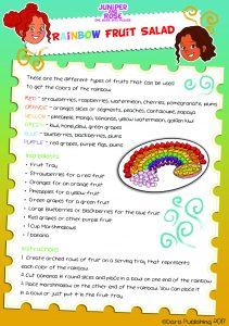 J&R Rainbow Salad Recipe Card