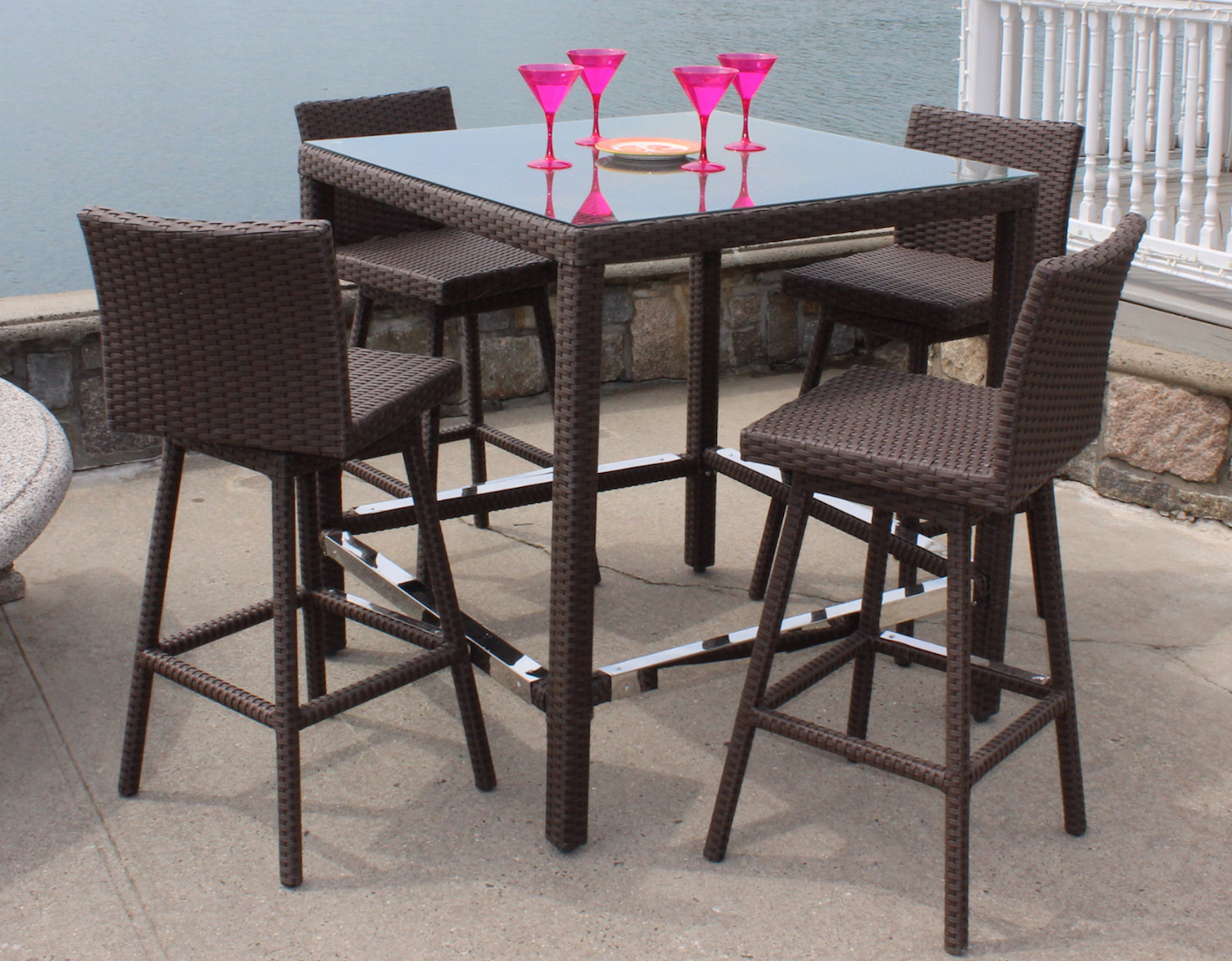 Swivel Patio Chairs Clearance Secondary Living Room Outdoor Bar Sets
