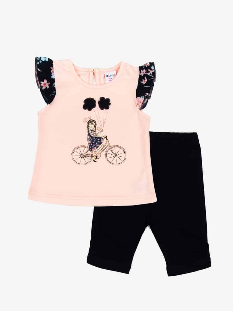 ensemble t shirt et legging bebe fille d arc