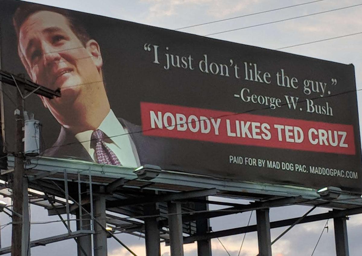 Wordt Ted Cruz Voldoende Gehaat Om In Texas Te Verliezen?
