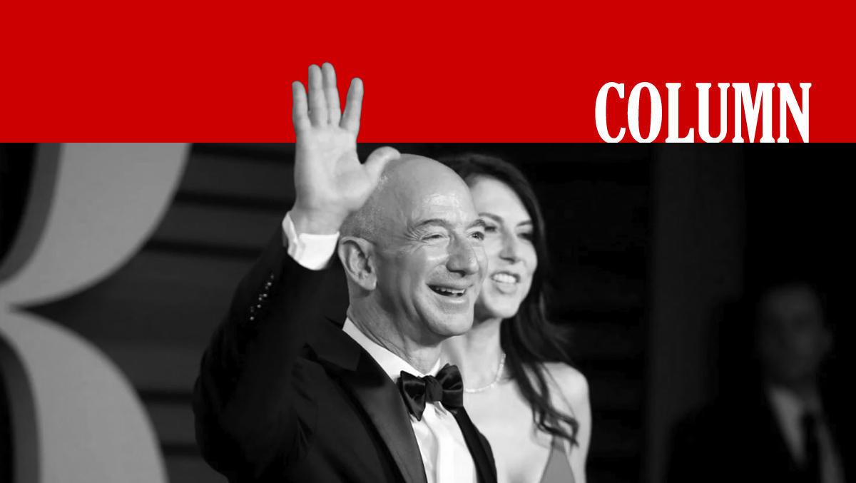 Of Jeff Bezos Straks Even 'n Slordige 65 Wil Aftikken. Miljard. Dollar.